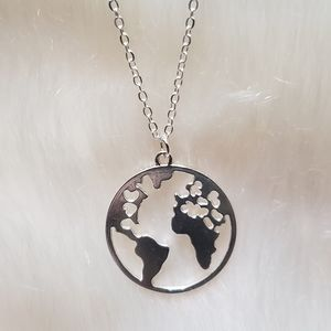 Silver Earth Necklace